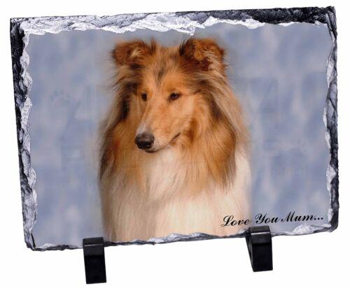 AD-RC1lymSL Rough Collie Dog /'Love You Mum/' Photo Slate Christmas Gift Ornament