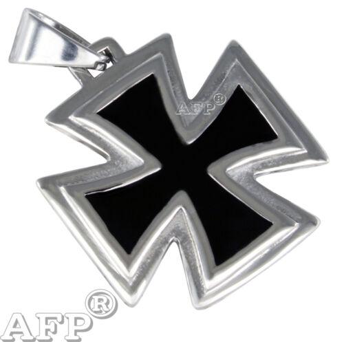 Eisernes Kreuz Anhänger Edelstahl Heavy Metal Biker Schmuck Edelstahlschmuck e05