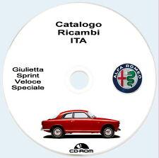 Alfa Romeo Giulietta,Giulietta Sprint,Veloce e Speciale ,Catalogo Ricambi