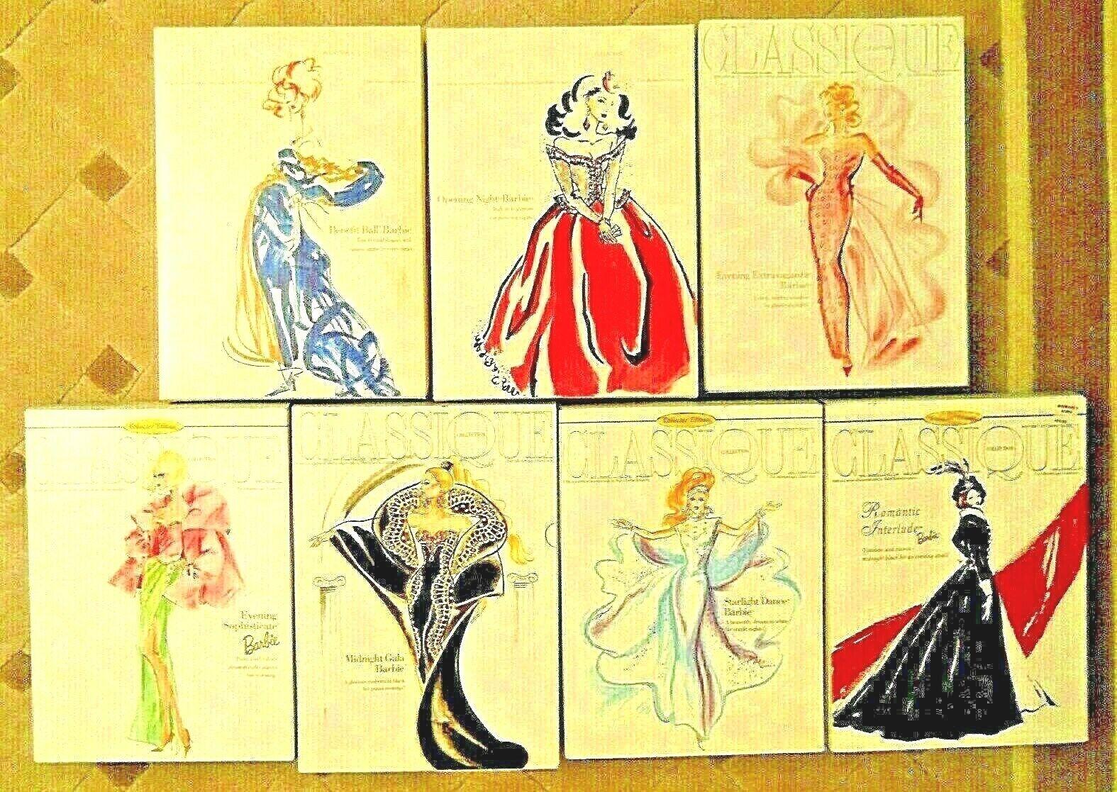 Barbie Colección Classique gran conjunto de (7) 1992 1998 Edición Limitada bellezas