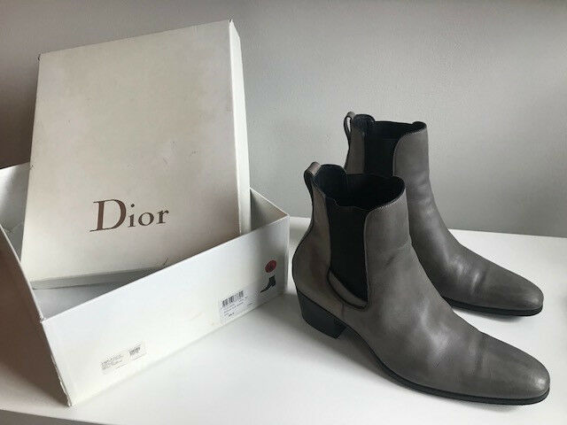 REAL DIOR MEN'S BOOTS LEATHER BOTTINE 2