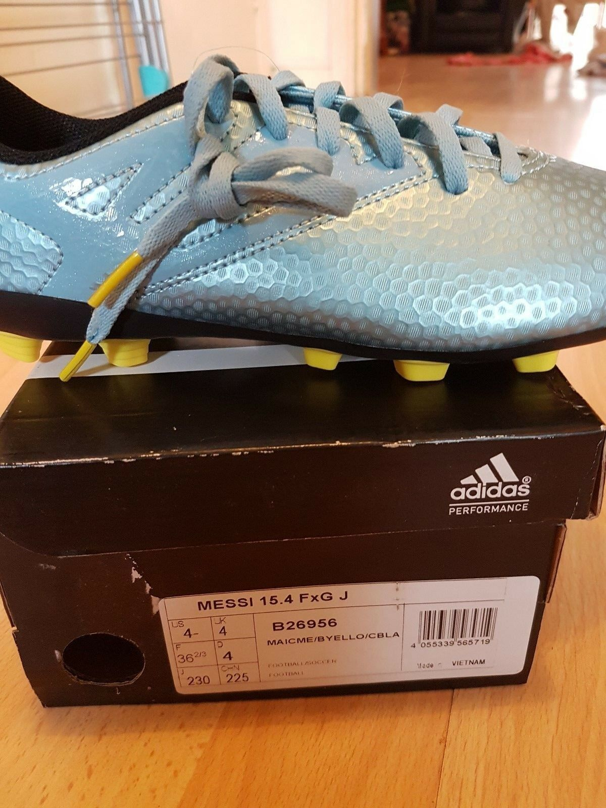 50374cbc453c adidas Messi 15.4 FXG J Boy's Firm Ground 12 Stud MOULDED Football ...