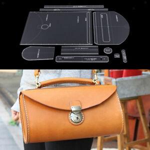 10pcs-acrilico-borsa-a-tracolla-modello-stencil-modello-stencil-LeatherCraft