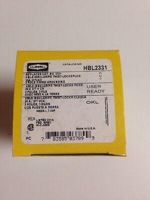 HUBBELL HBL2331 20 AMP 277 VOLT L7-20P PLUG 2331