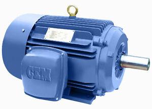 On Sale! Premium Efficency Cast Iron AC Motor 5HP 3600RPM 184T 3Phase TEFC Foot