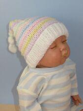 Las instrucciones impresas-Baby Candy Stripe topknot Pixie Sombrero Tejer patrón