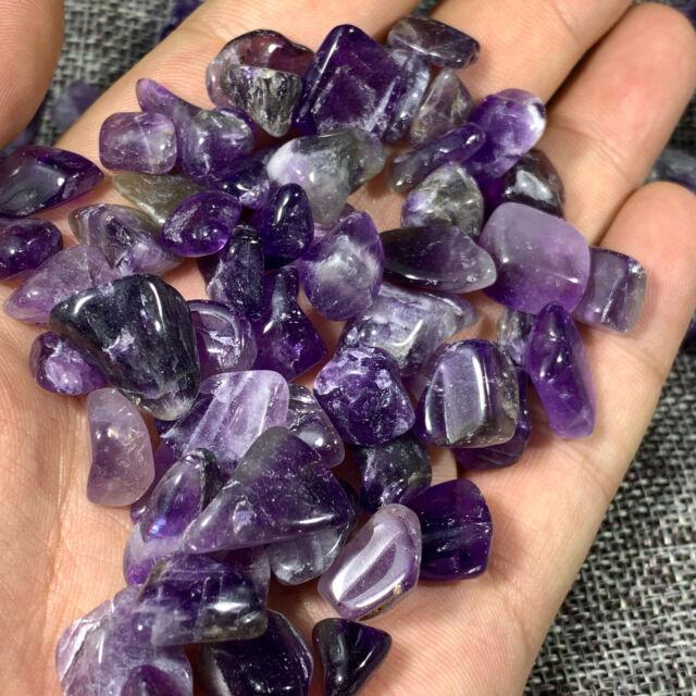 natural amethyst stone crystal tumbled stone crystal healing gravel 500g