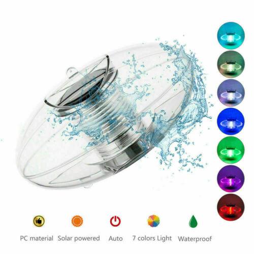 Solarbetriebene LED Schwimmkugel Lampe Dez Drift Licht für Garten Schwimmba A9N3