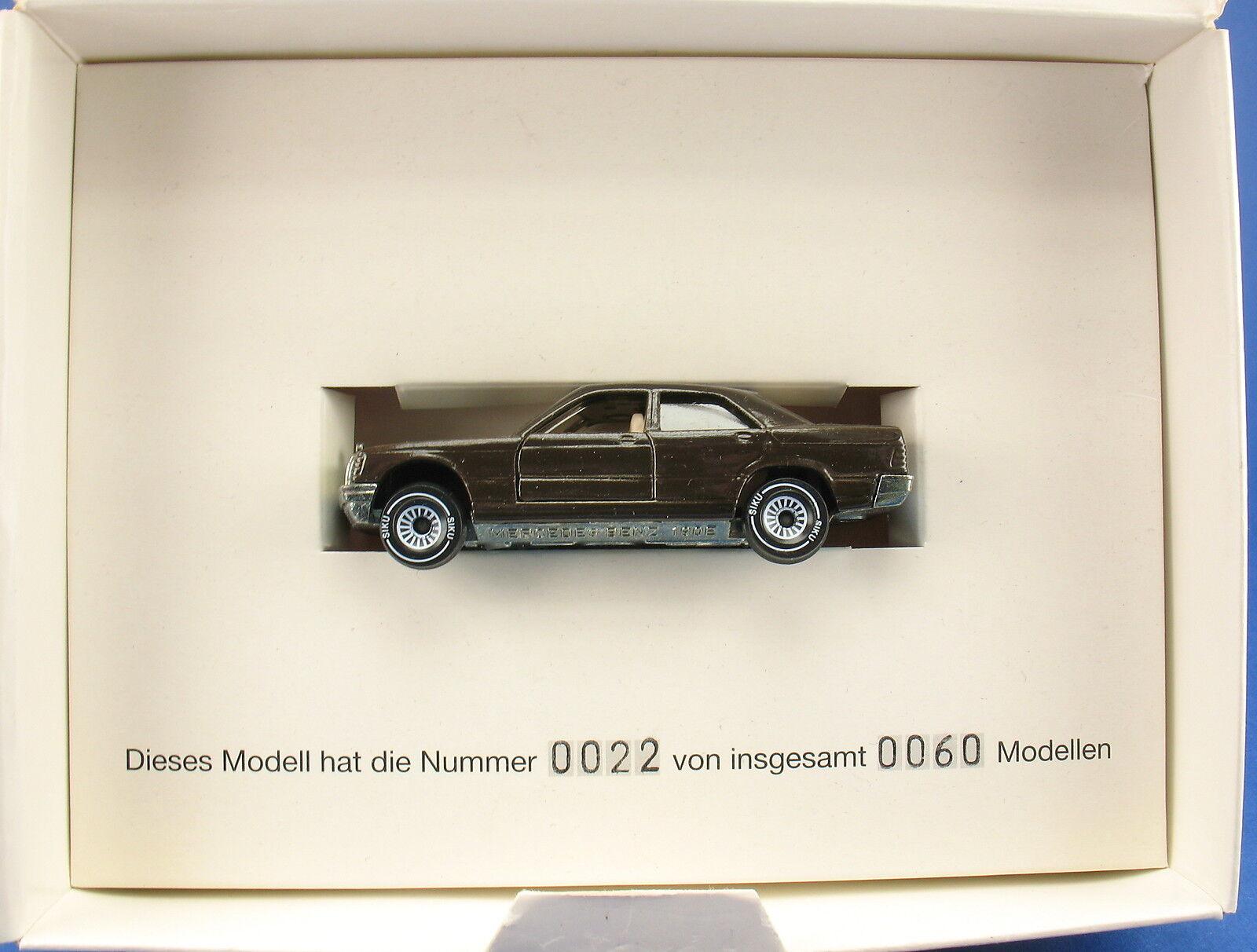 Siku 1054-MERCEDES 190 e-Wegman Propak-modello pubblicitari in werbebox