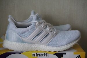 518bda250cd0a0 Adidas Ultra Boost 3.0 Parley White Icey Blue CP9685 size 12.5 new ...