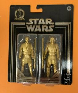 Star-Wars-Commemorative-Edition-Gold-Obi-Wan-Kenobi-amp-Anakin-Skywalker-Figures