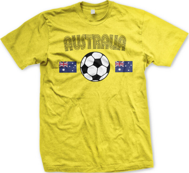 Australia Country Flag Soccer Football Outback Aussie Long Sleeve Thermal