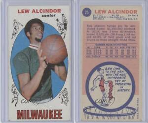 Details About 1969 Topps 25 Kareem Abdul Jabbar Lew Alcindor Milwaukee Bucks Rc Rookie Card