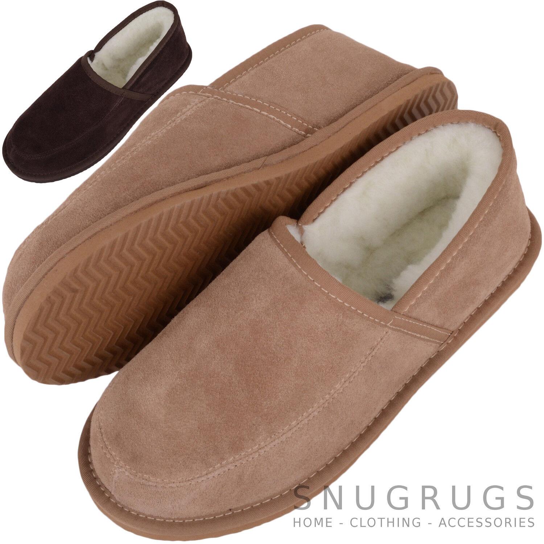 snugrugs Hombre/Hombre Forrado Piel Lana / Pantuflas De Piel Forrado Oveja / Zapatos interior a4bbe1