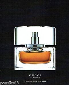 PUBLICITE ADVERTISING 125  2002  GUCCI  la nouvelle eau de parfum femme