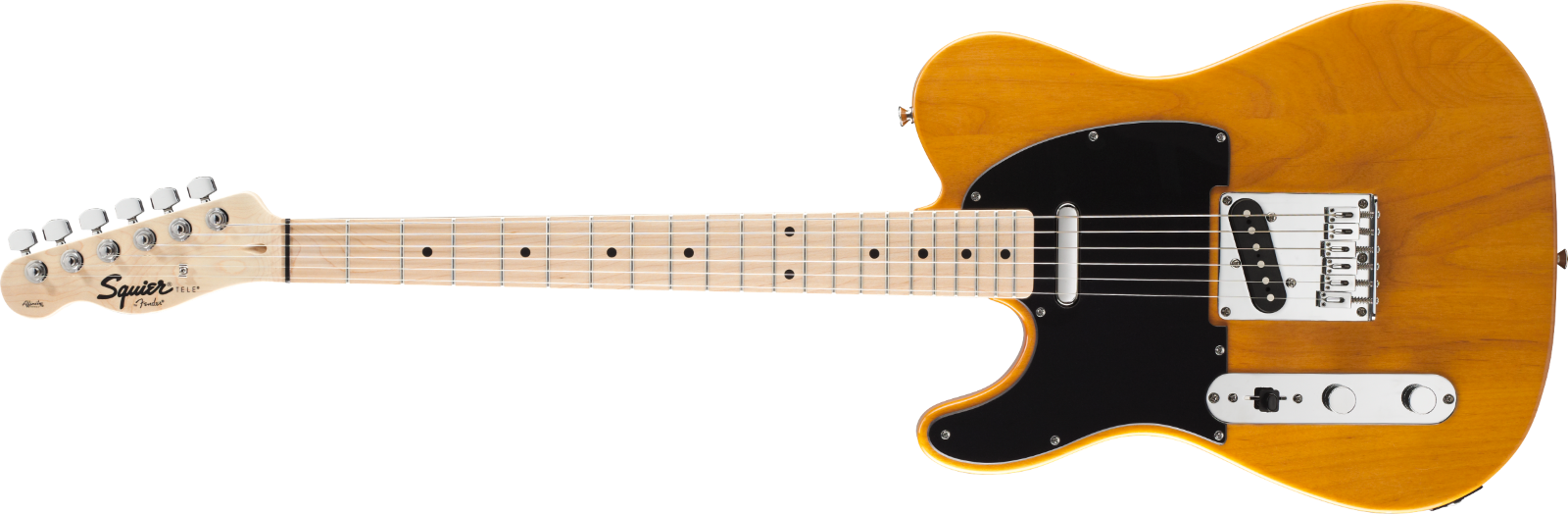 This pre-owned left handed Fender Telecaster guitar is for sale - NOS Fender Squier LEFT HAND Tele Butterscotch Blonde Electric Telecaster Guitar