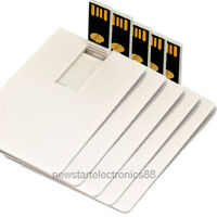 Lot 5 16GB 16G Credit Card USB Flash Drive DIY Memory Stick Wholesale Bulk