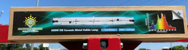 GROWERS CHOICE 630W Double Ended DE CMH 3K Ceramic Metal Halide Grow Lamp  Bulb