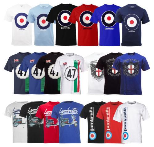 New Mens Lambretta   Target T-Shirt Tee Clothing Casual Size  L -3XL