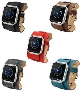 Leather-Watch-Strap-Bracelet-Wrist-Band-For-Fitbit-Blaze-Fitness-Watch-Frame