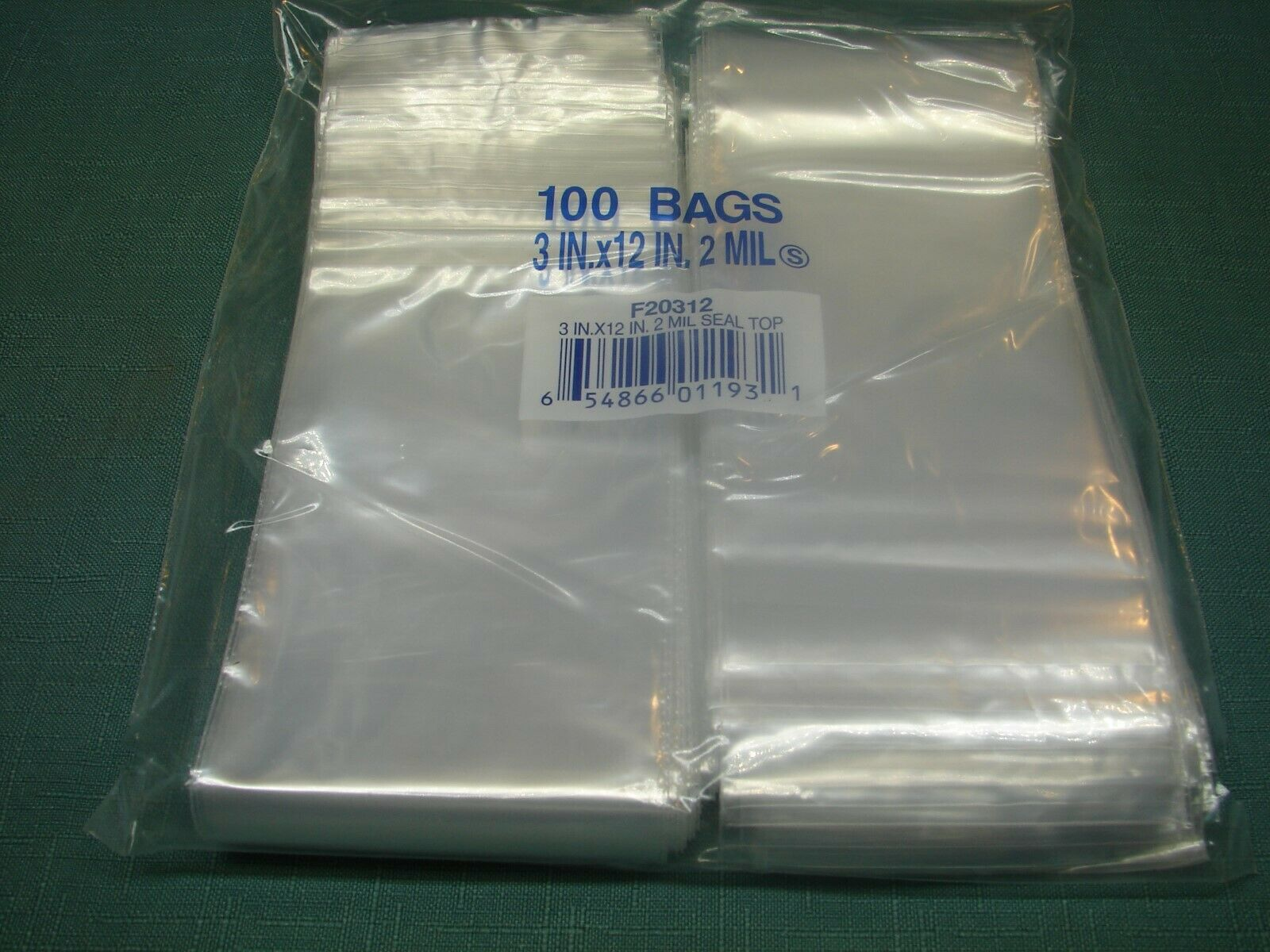 """500 4/"""" x  6/"""" 3 Mil HEAVY  Open Top Lay Flat Clear Poly Bags FDA /& USDA  Approved"""