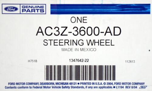 OEM NEW 2008-2010 Ford F-250 XL Basic Steering Wheel Black w//o Cruise Control