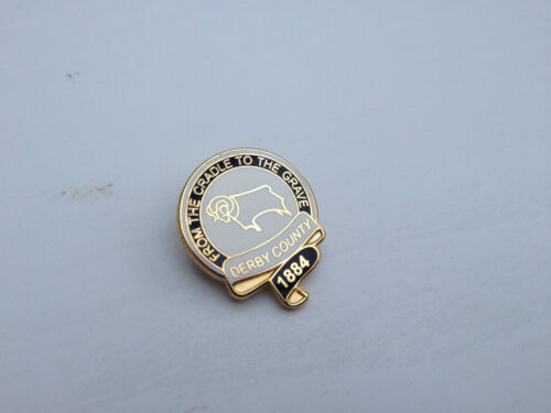 Derby County /'From the Cradle to the Grave/' Gilt Pin Badge Football Badge