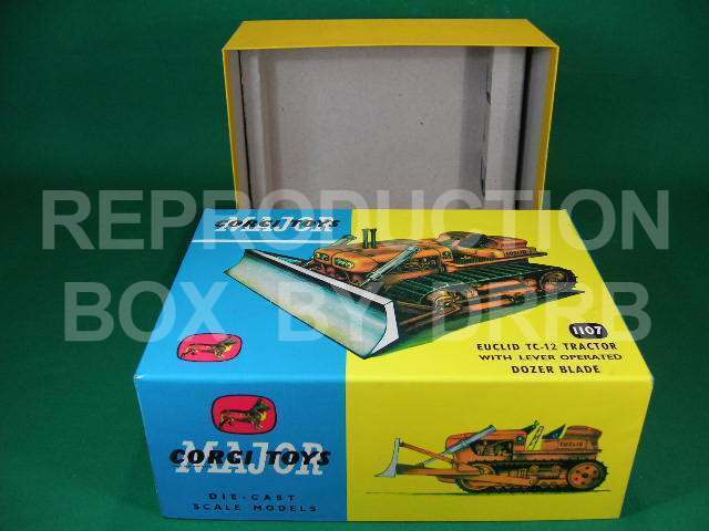 Corgi. Euclid Tractor with Dozer Blade - Reproduction Box by DRRB