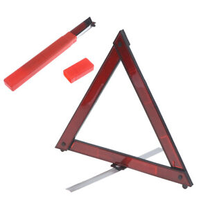 Car Emergency Breakdown Warning Triangle Red Reflective Safety Stop S P5