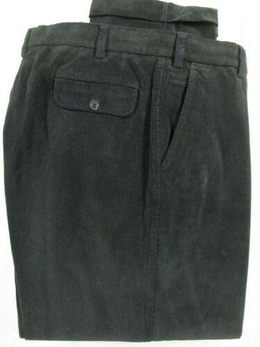 Hiltl Mens Black Flat Front Corduroy Pants 40x31.5
