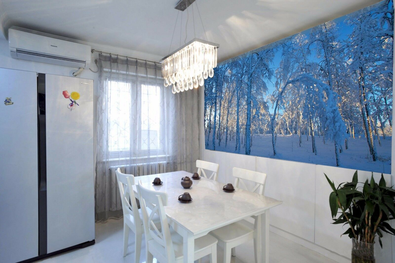 3D Snowy woods woods woods 2646 Wall Paper Wall Print Decal Wall Indoor Murals Wall US ecb3a7