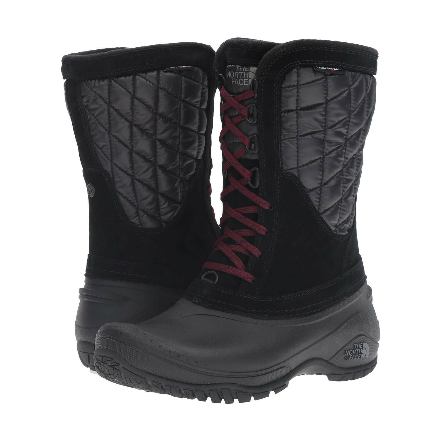 THE NORTH FACE Thermoball Utility Mid Women     TNF Black   Deep Garnet Red d62ee3