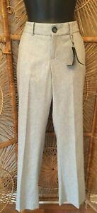 Banana-Republic-Womens-Martin-Fit-Trouser-Size-0-Gray-Straight-Leg-Wool-Blend