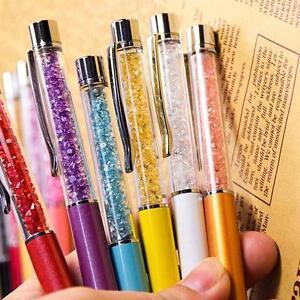 Cristal-Stylo-a-bille-rempli-diamants-Fashion-Elements-cadeaux-Bling-Perle-BM