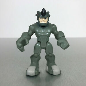 Playskool Marvel Super Hero Adventures RARE Gray face Rhino Spider-Man Villain