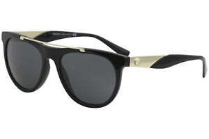 81b47536997 Versace Men s VE4347 VE 4347 GB1 87 Black Gold Fashion Pilot ...
