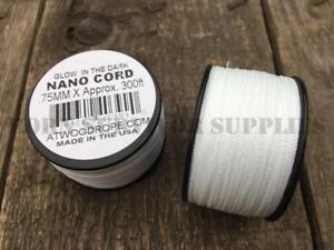 GLOW-IN-THE-DARK-NANO-CORD-300ft-SPOOL-36lb-Micro-Craft-String-Bushcraft-Kit