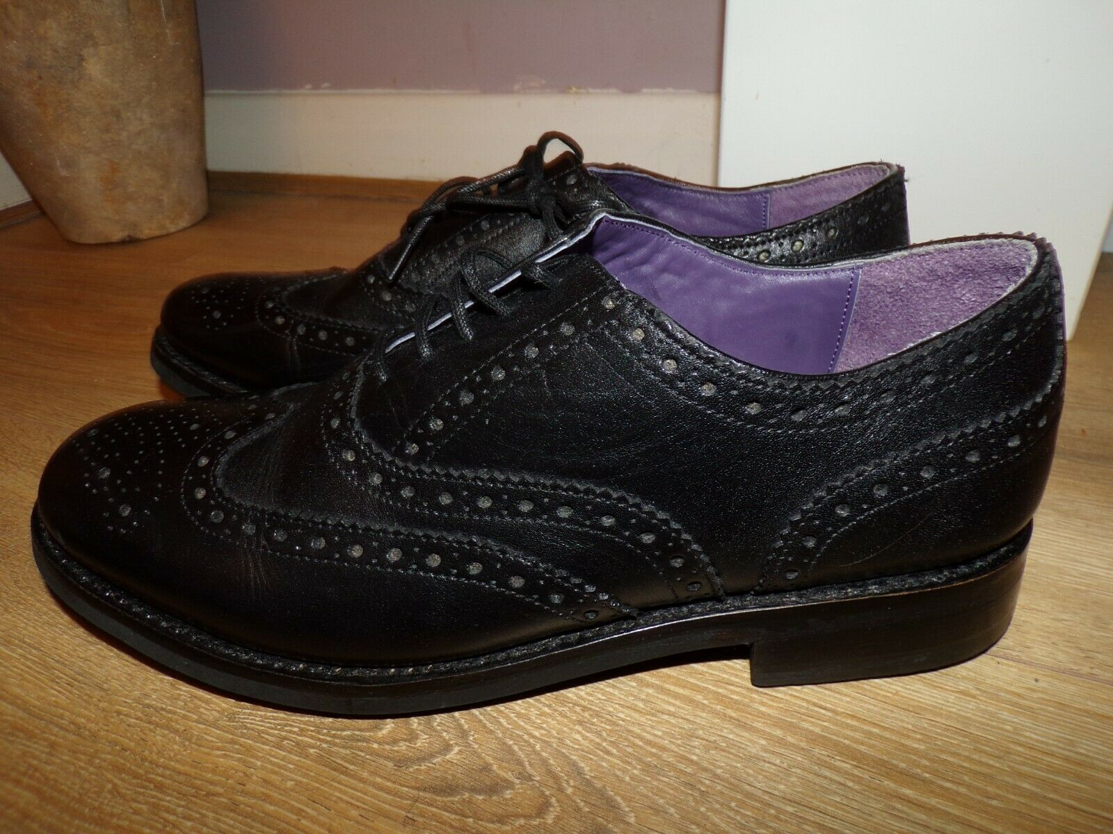 Nouveau Homme Designer Samuel Windsor Richelieu à Chaussures Cuir UK 9.5