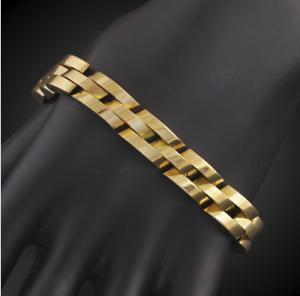 18k Goldkette Armkette Dicke Panzerkette Armband Männer Herren Damen Vergoldet Quell Sommer Durst