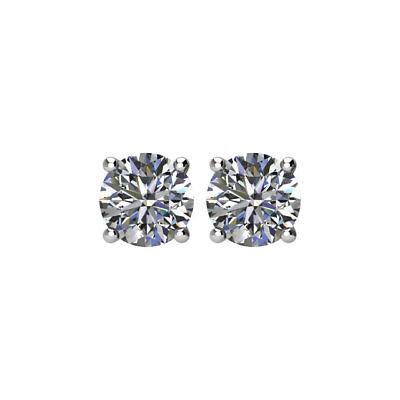 Brand New 14k White Gold 1 Ct Total Weight Diamond Stud Earrings Ebay