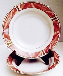 Set of 4 Soup Bowls, Cereal Bowls, Majesty Fine China, Tableware, Sango Bowls