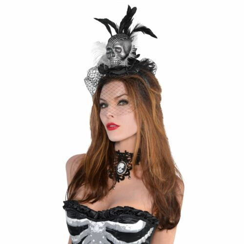 Ladies Gothic Skull Headband Tribal Voodoo Enchantress Halloween Fancy Dress UK