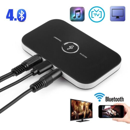 Bluetooth Wireless AUX Audio Transmitter//Receiver//Dongle for Home HD TV Speaker