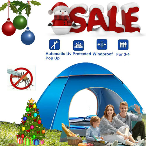 3-4 Person Tent Camping Sport Outdoor Waterproof Automatic Instant Beach Hiking