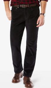 Men-039-s-Dockers-Soft-Stretch-Jean-Cut-Straight-Fit-Pants-Black-color-58-00