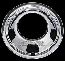 "1 Front 2003-17 DODGE RAM 3500 17"" Chrome Dual Wheel Simulators Dually Rim Cover"