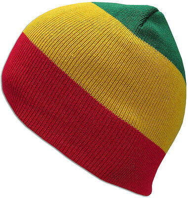 Unisex Women Men Short Beanie Hat Uncuffed Knit Rasta Camo Solid Skull Cap-New!