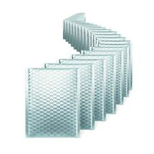 500 000 Matte Metallic Ice Blue Poly Bubble Mailers 4x8 Inner 4x7