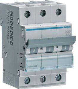 Hager-Leitungsschutzschalter-3pol-C-20A-6kA-MCN320