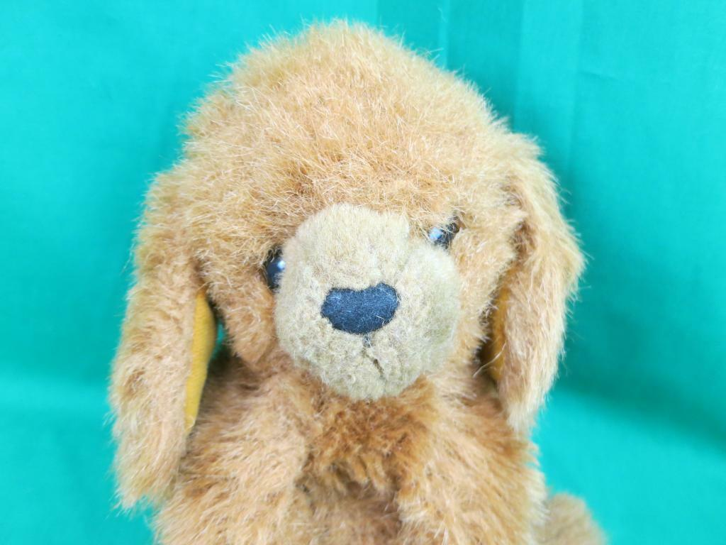 BIG VINTAGE SHAGGY CINNAMON braun GUNS PUPPY DOG PLUSH STUFFED ANIMAL 1982 TOY